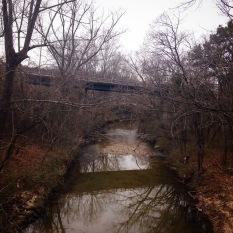 A creek runs through it. Proctor Creek between Bolton Hills and Monroe Heights neighborhoods